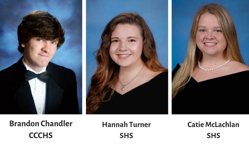 Brandon Chandler, Hannah Turner and Catie McLachlan