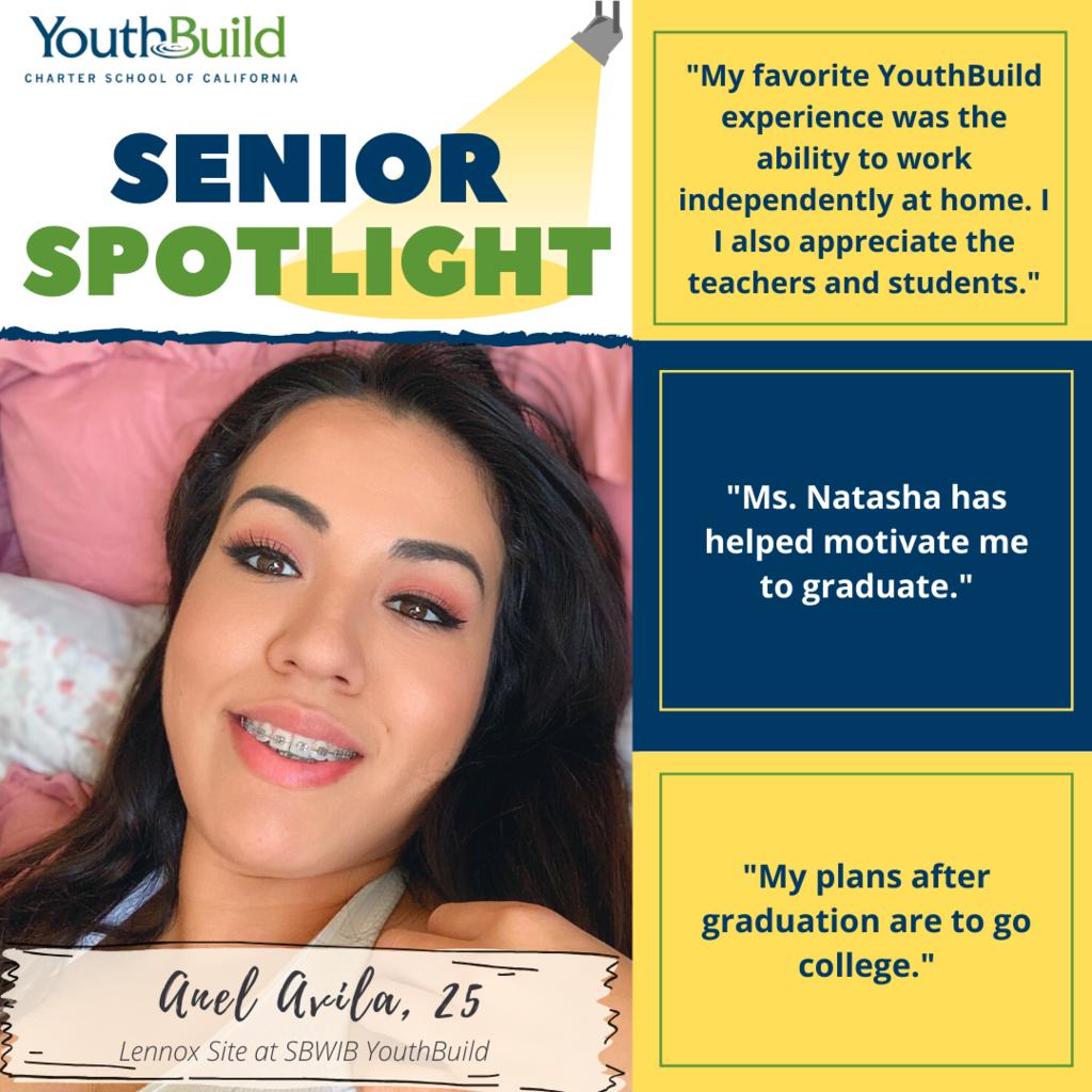 Senior Spotlight for graduate Anel Avila