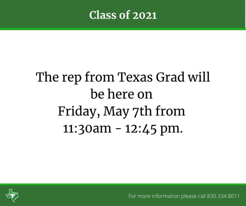 Texas Grad Rep Visit 5/7 Thumbnail Image