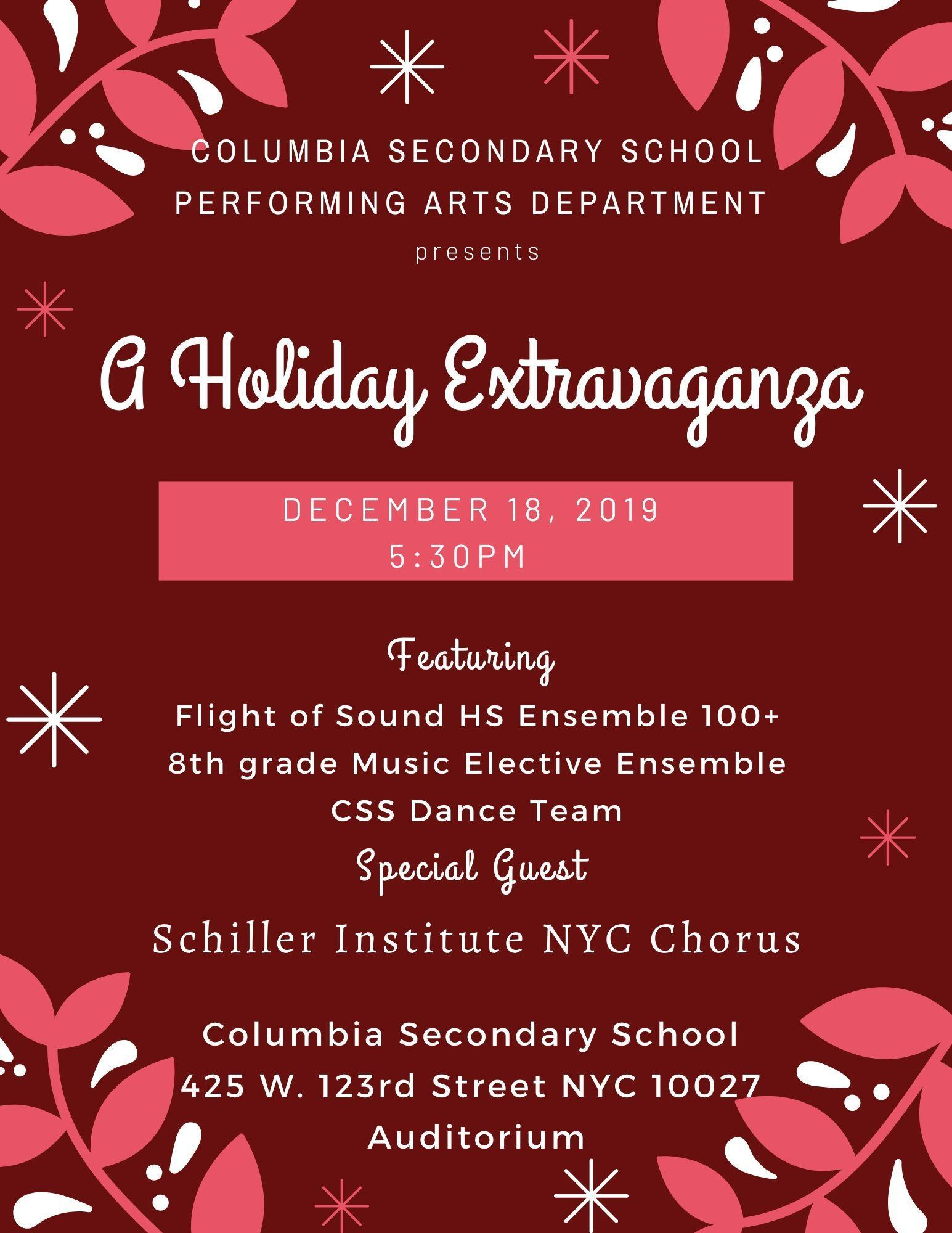 Holiday Extravaganza Poster