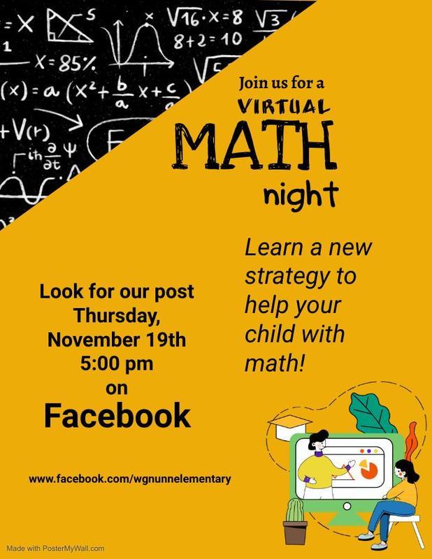 Math night flyer