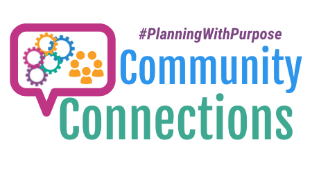 Community Connections Graphic - Hashtag Planning With Purpose