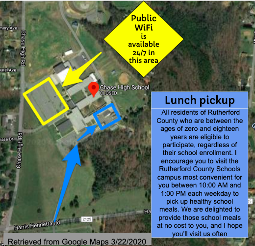 Internet and Food Pick Up Location at CHASE High School Featured Photo