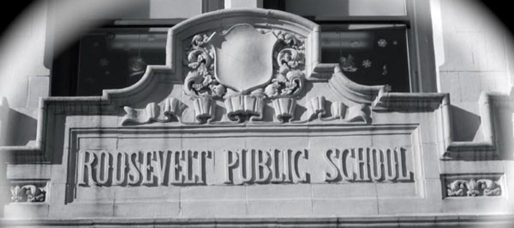 roosevelt school front marquee