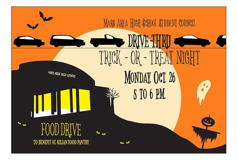 Mars Area High School Drive-Thru Trick-or-Treat Night