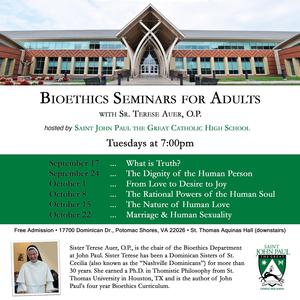 dates for the Bioethics Seminar for adults