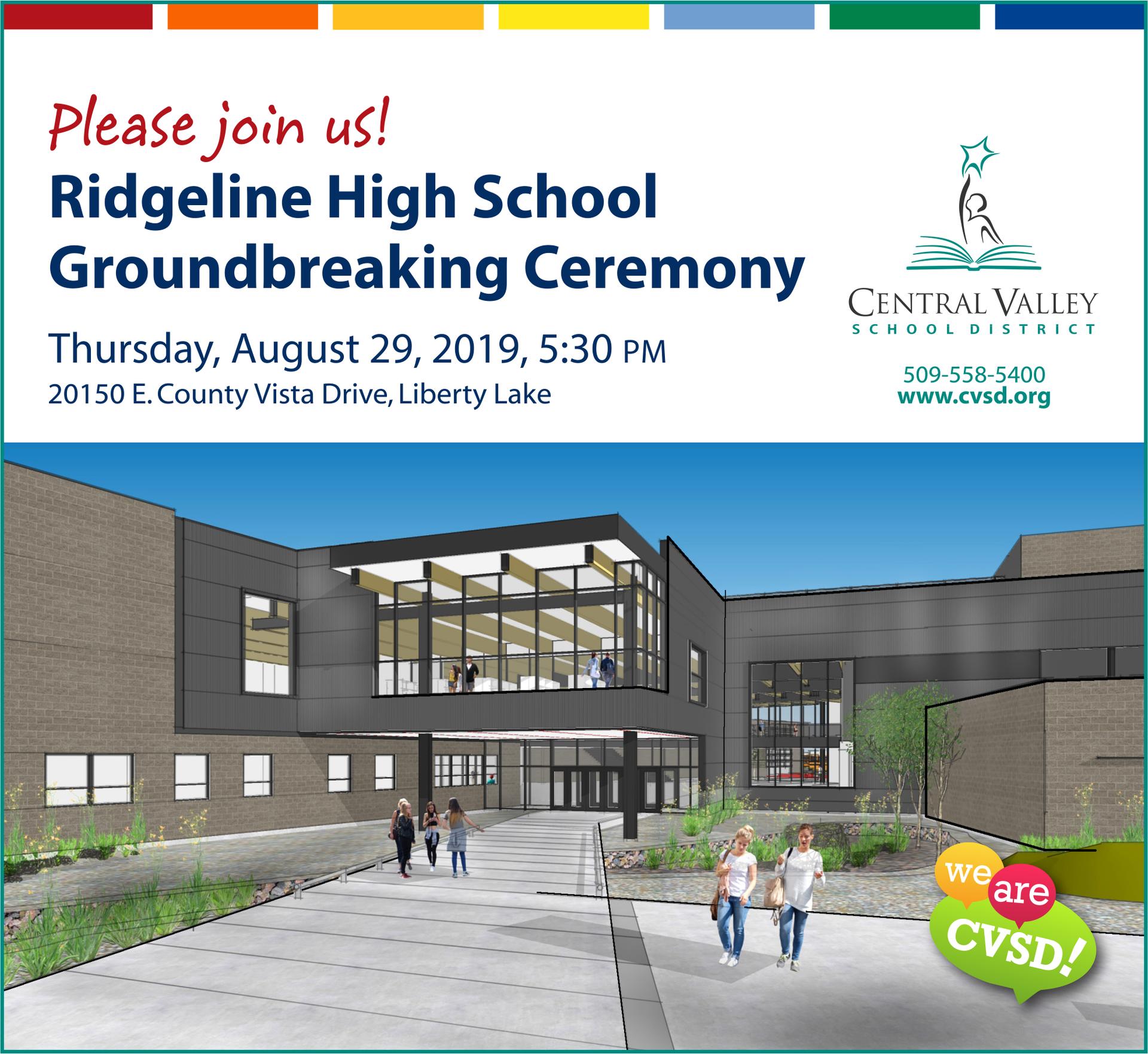 Ridgeline HS Groundbreaking graphic