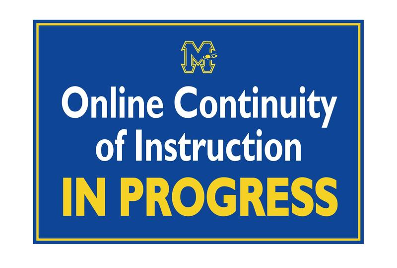 Online Continuity of Instruction (OCI) in Progress