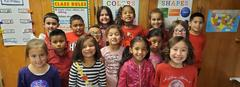 Mrs. Johnson's class celebrates Red Ribbon Week.