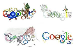 image of different doodles of google site