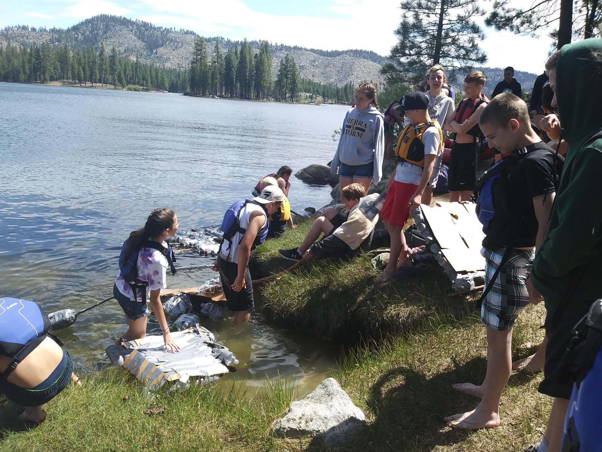 Using Makeshift Boats on Lake Davis