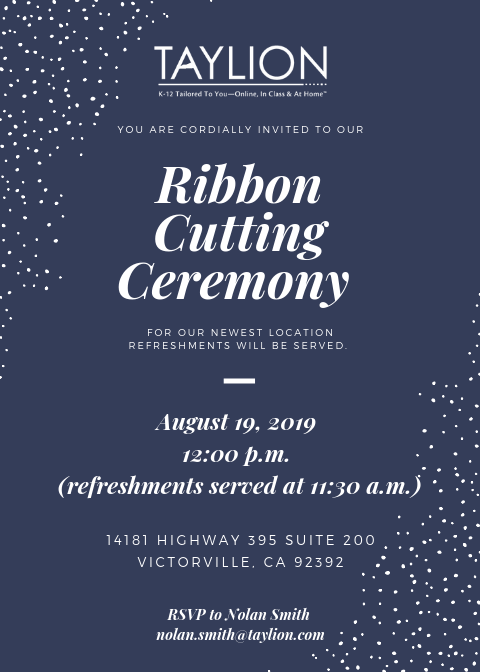 Ribbon Cutting Ceremony Invite