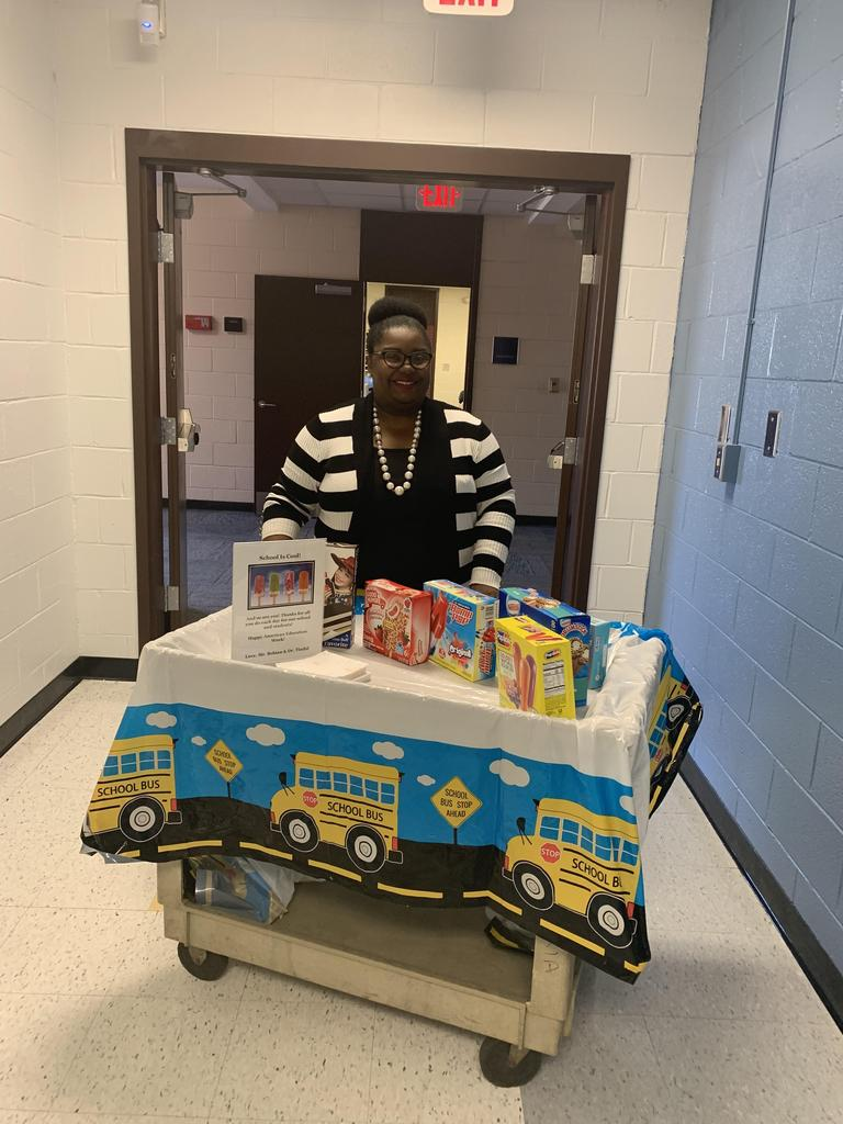 Dr. Tindal passing out sweet treats.