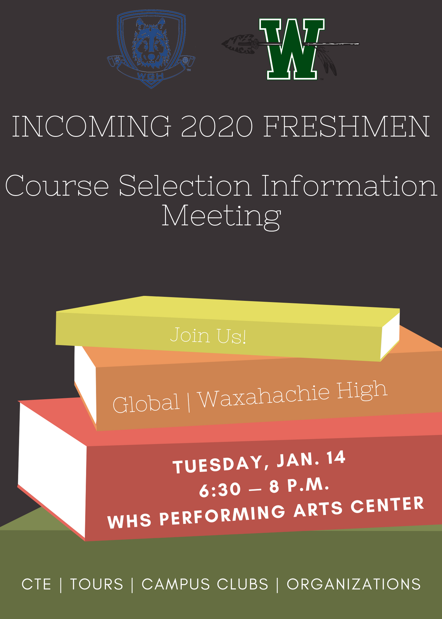 Incoming freshmen course selection informational meeting on January 14