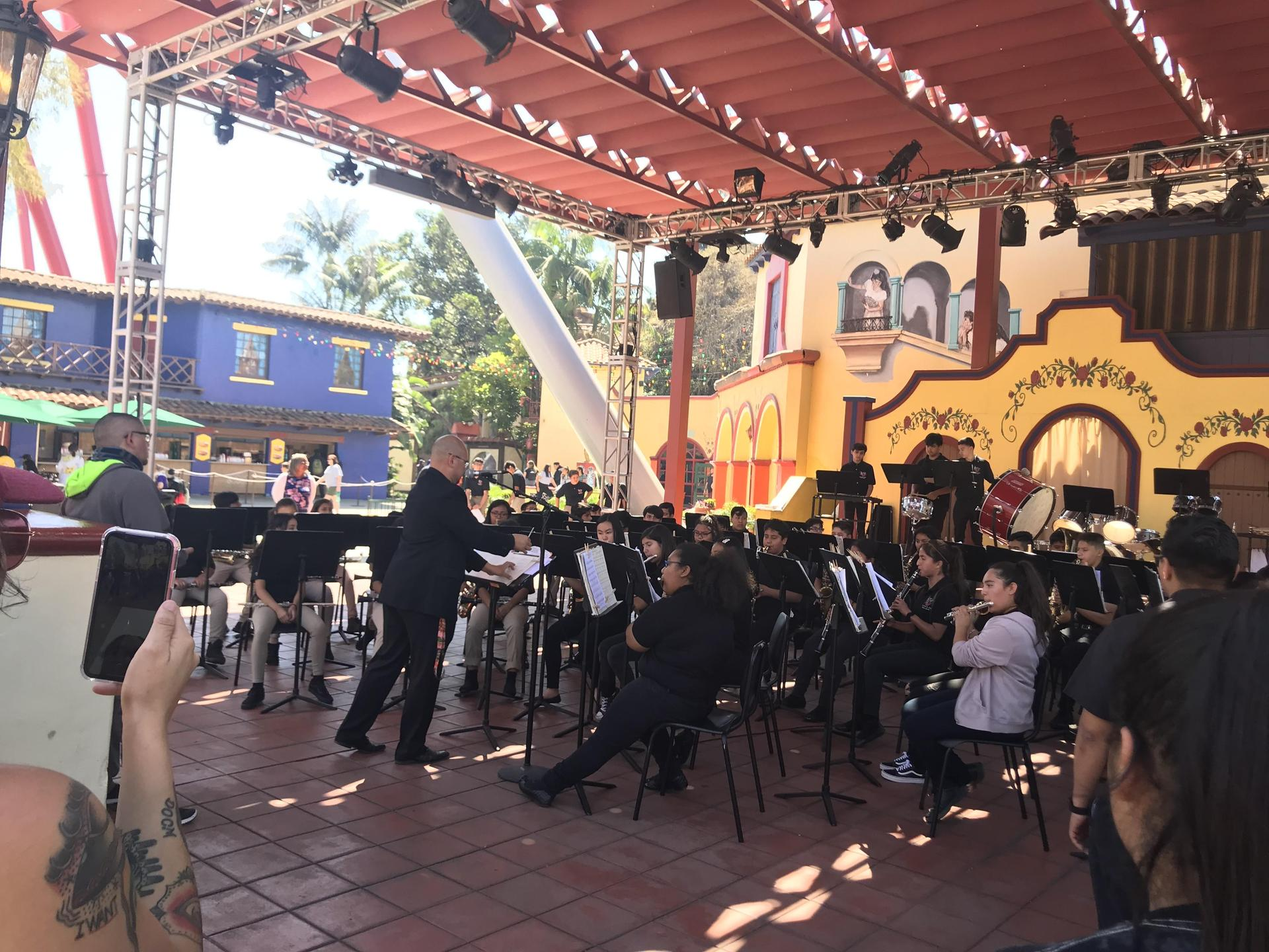 Symphonic Band performing @ Knott's Berry Farm 4/12/19