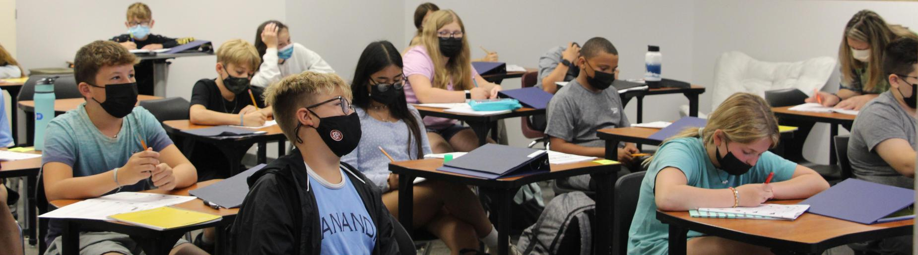 Gananda Middle School Students Learning In Class September 2021