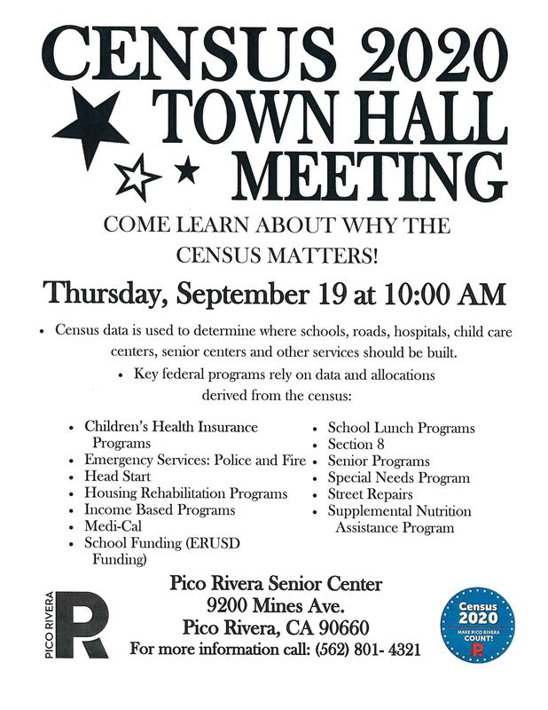 Census 2020 Town Hall Meeting Flyer