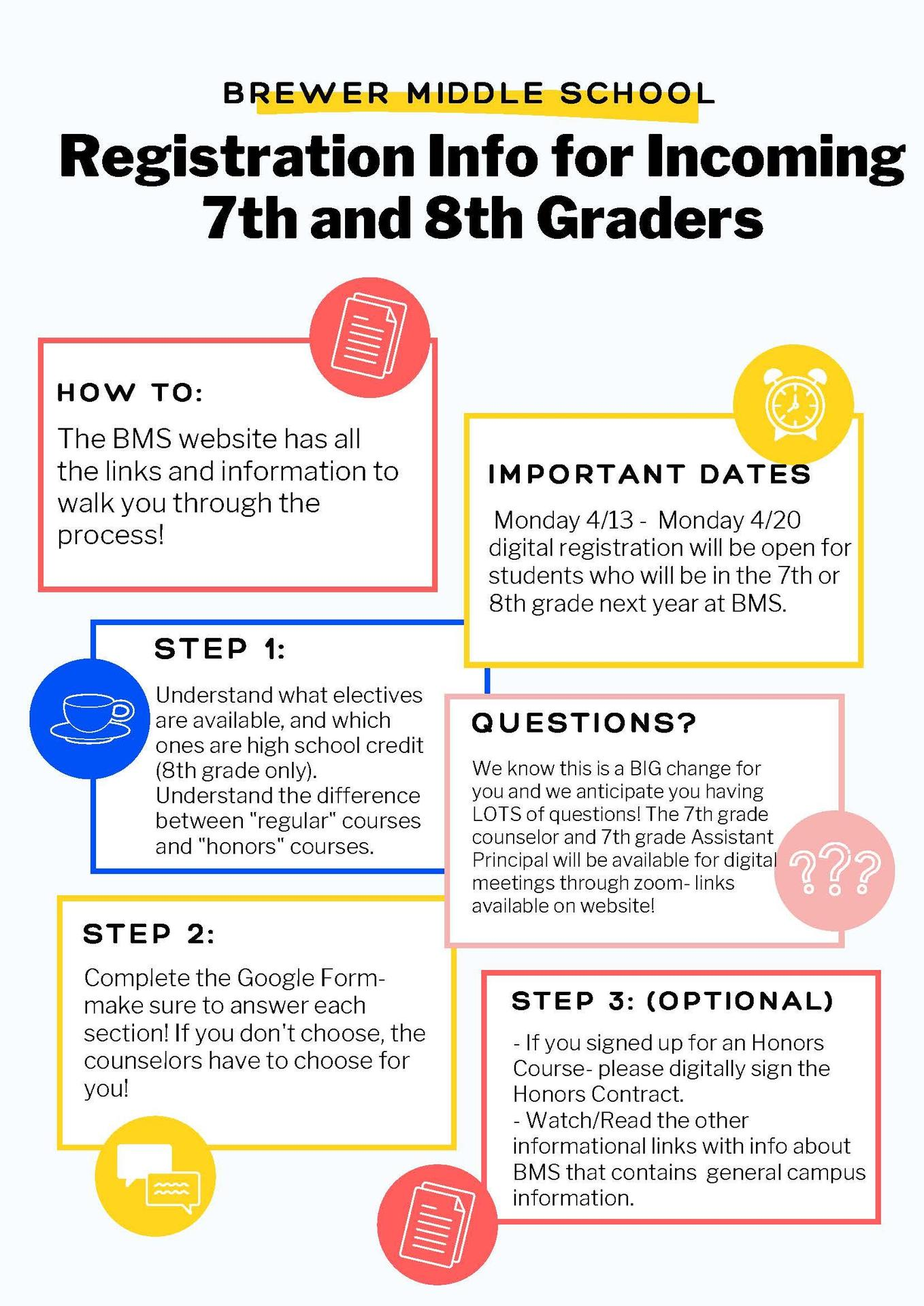 8th Grade Registration Steps