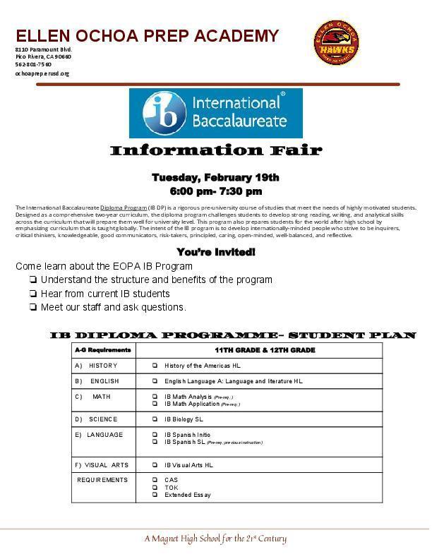 International Baccalaureate Fair