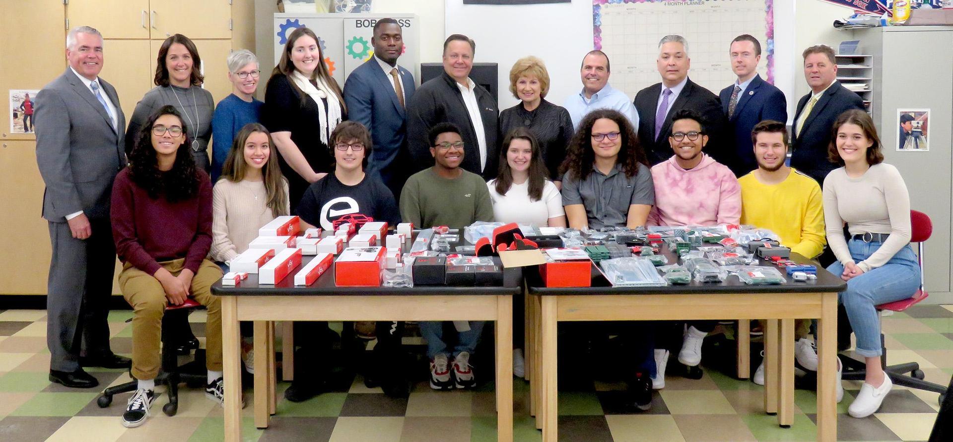 Educators, Exelon officials, and EHS students