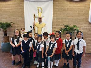 Kinder with Bishop sis