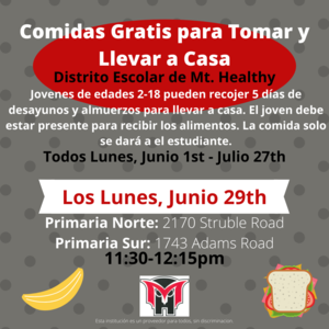 meal program flyer spanish