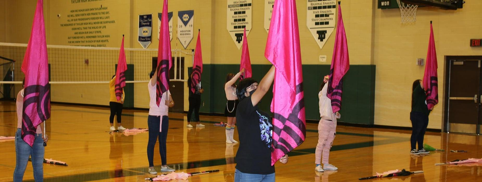 students do flag routine