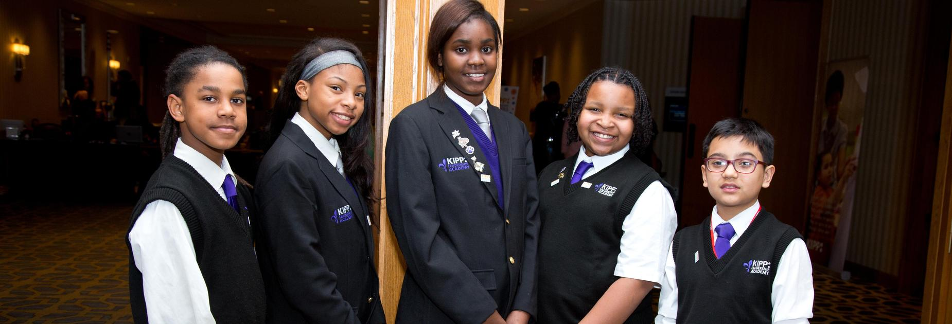 5 KLA students posing together