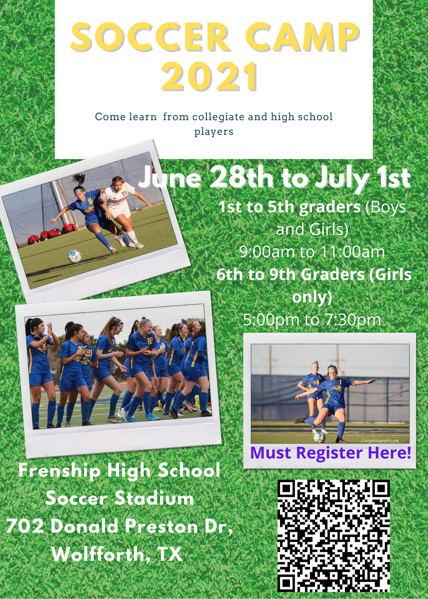 Summer Camp 2021 flyer