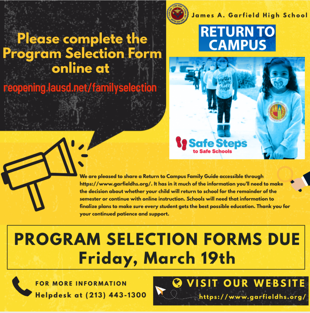Spring 2021 Return to Campus Program Selection Form