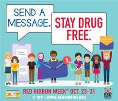 Picture of kids holding signs that say: Send a message stay drug free