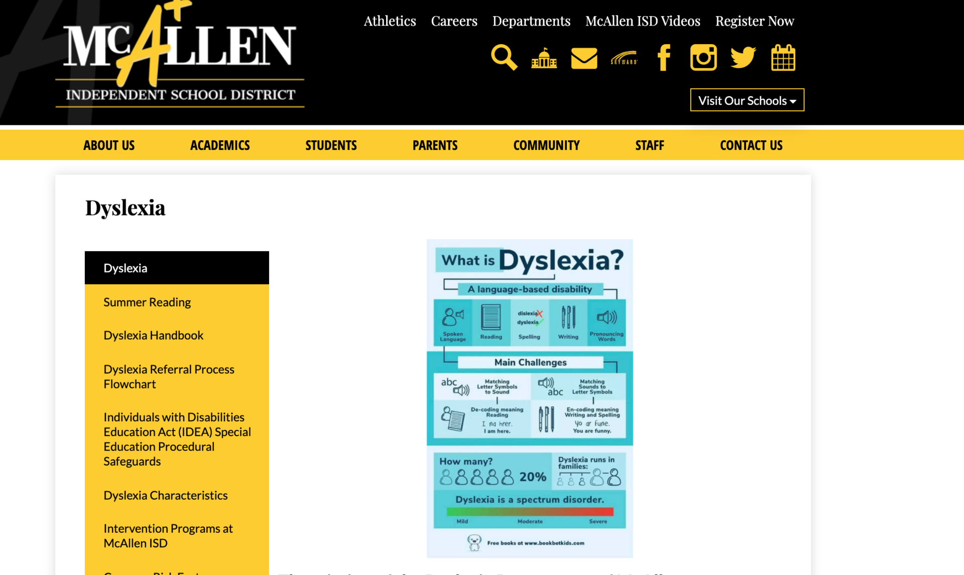 MISD Dyslexia Website Image
