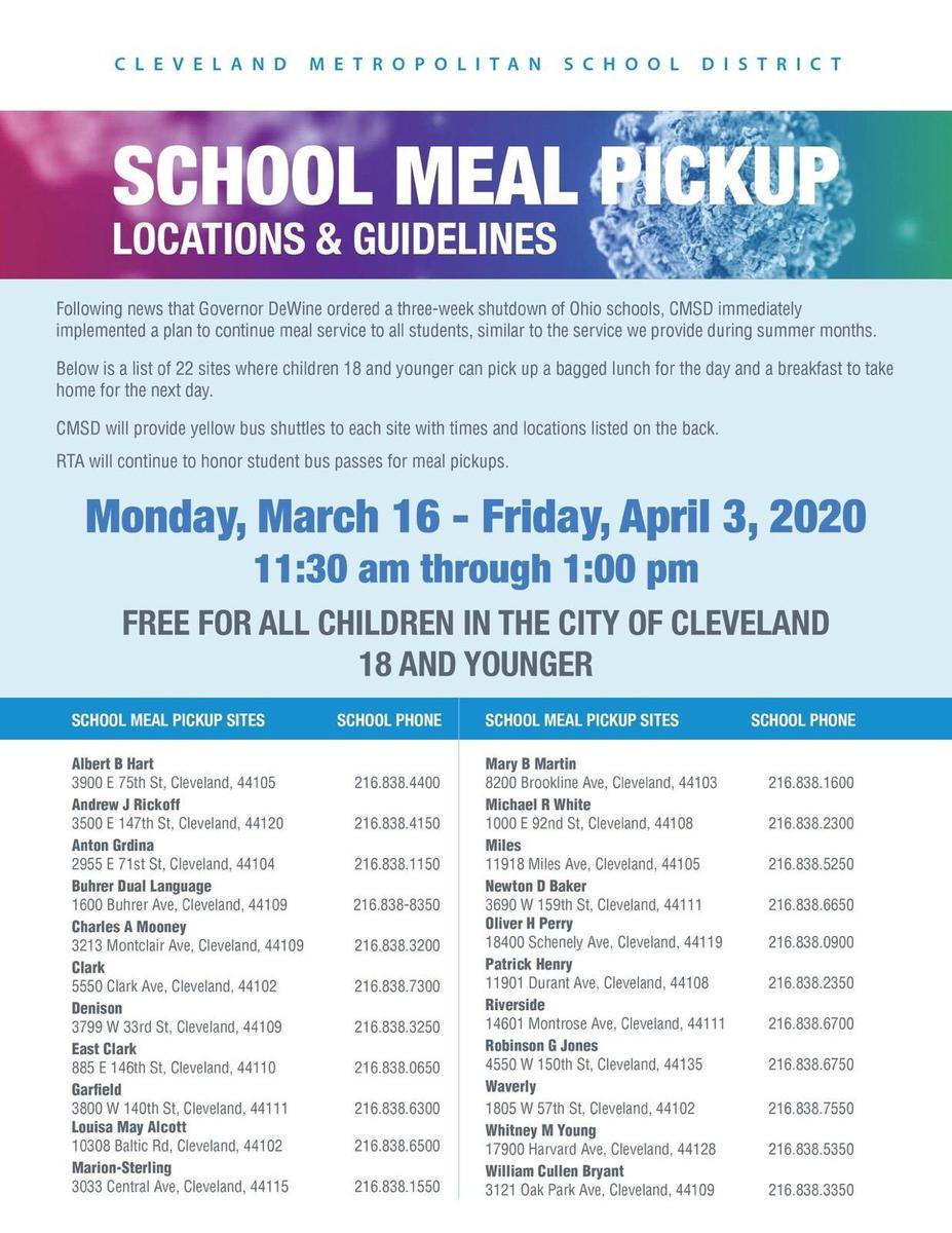 School Meal Pickup Locations