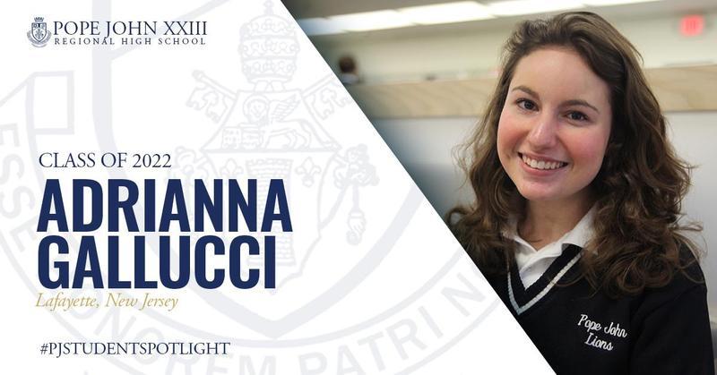 Pope John Student Spotlight Adrianna Gallucci