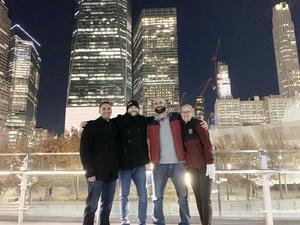 Chaperones are pictured in lower Manhattan on the field trip to the 9/11 Memorial/Museum