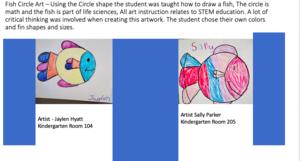 Fish circle art