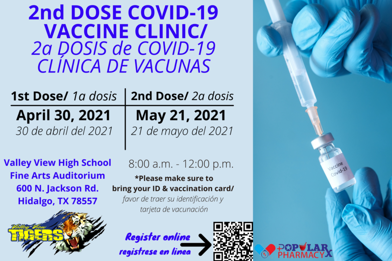 VVISD will be offering the 2nd dose. Thumbnail Image