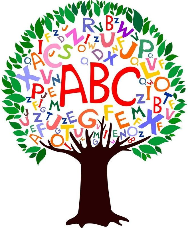 Letters in Tree Clipart