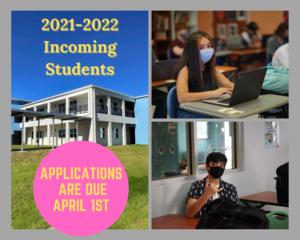 Applications due April 2