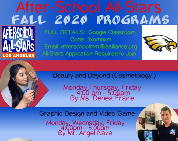 After-School All-Stars Fall 2020 Program Flyer