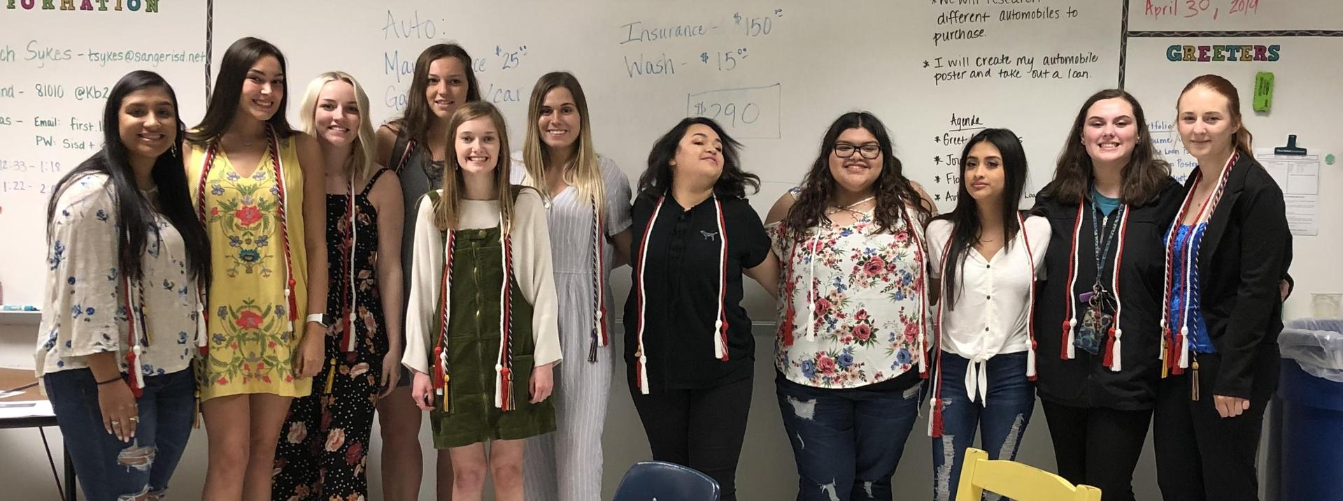 FCCLA members earned honor cords for graduation