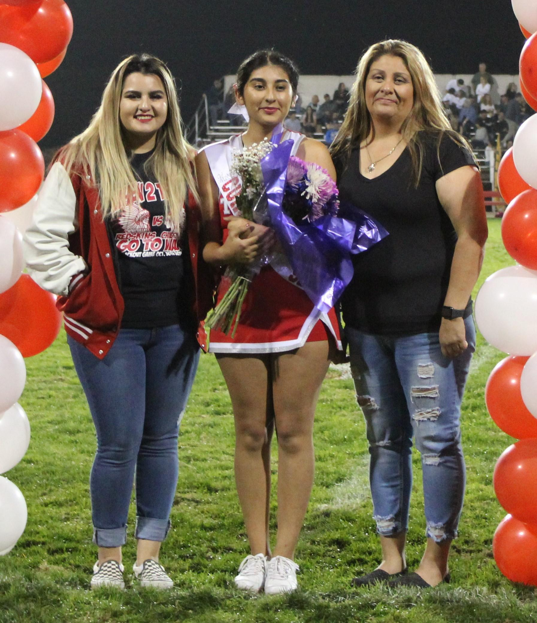 Marina Tovar and her supporters at Senior Night.