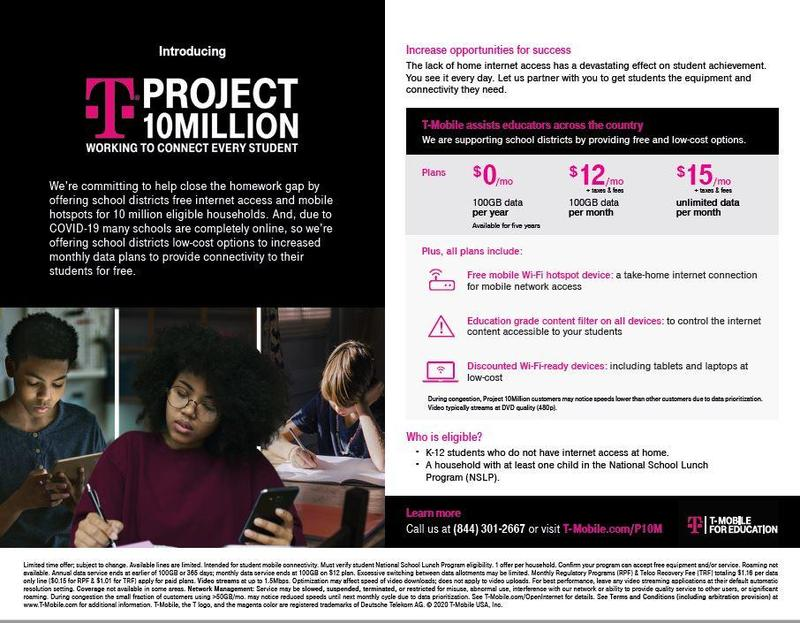 tmobile Project 10 Million