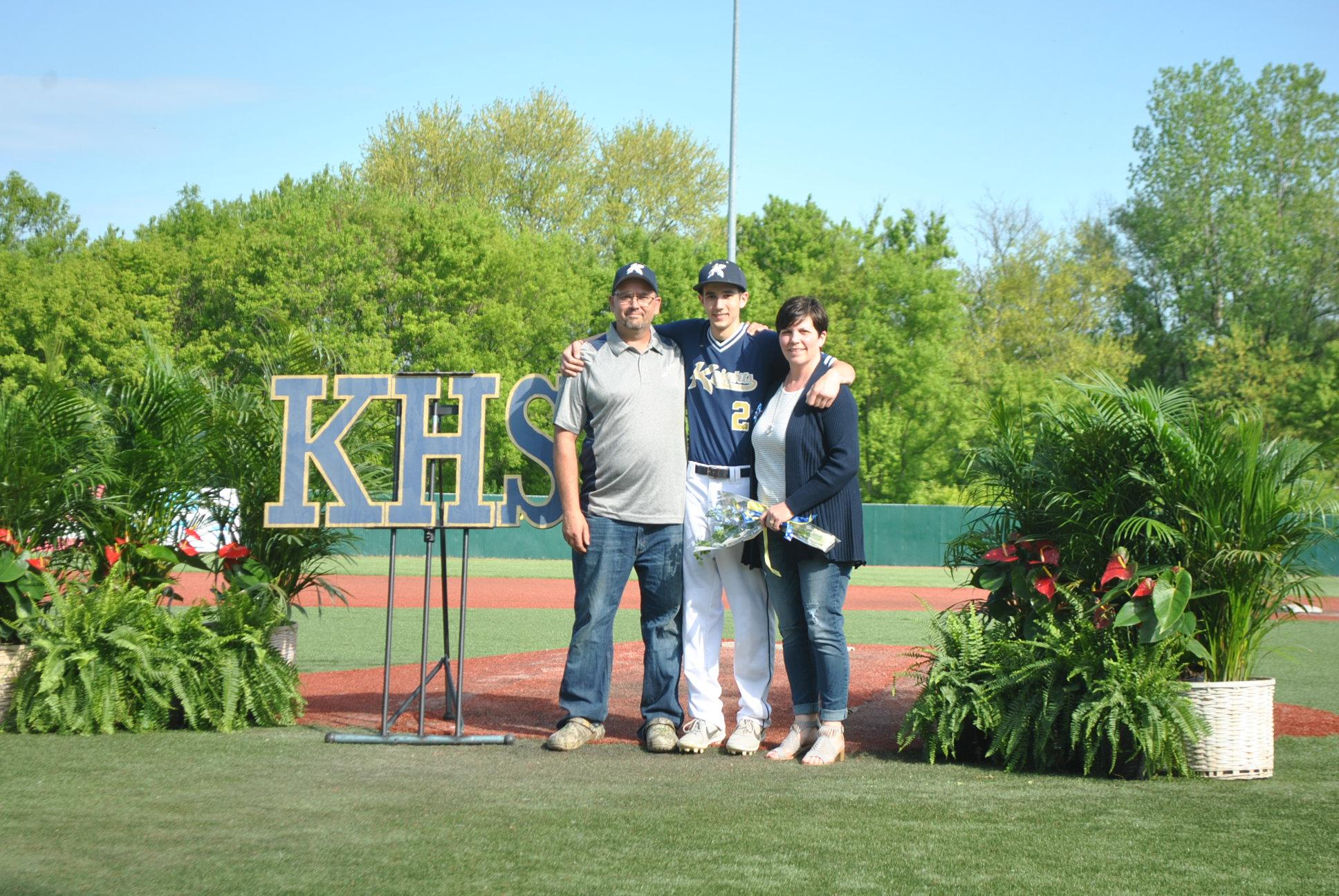 Pic of Caleb Fike and parents
