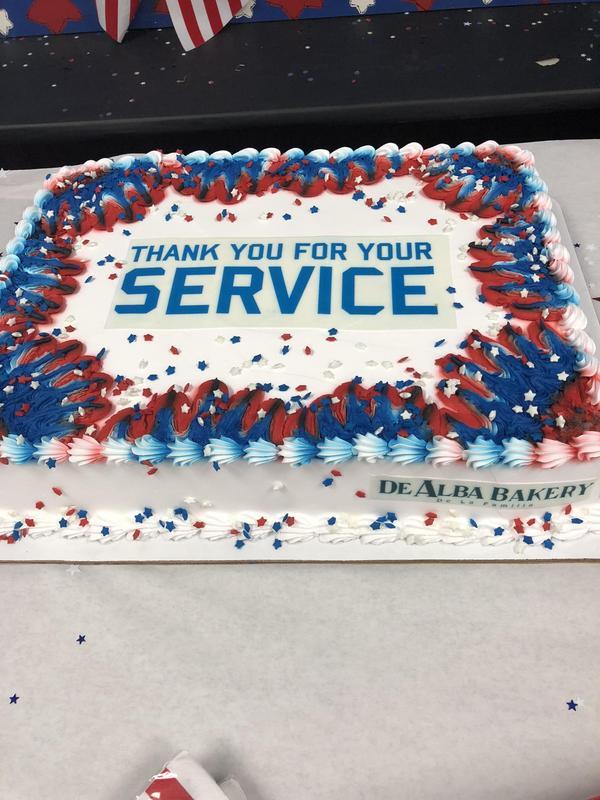 Veteran's Day cake