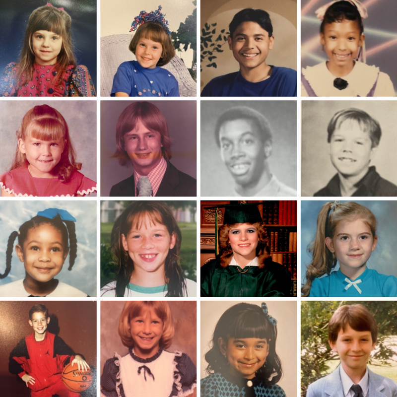 collage of district principals when they were students themselves