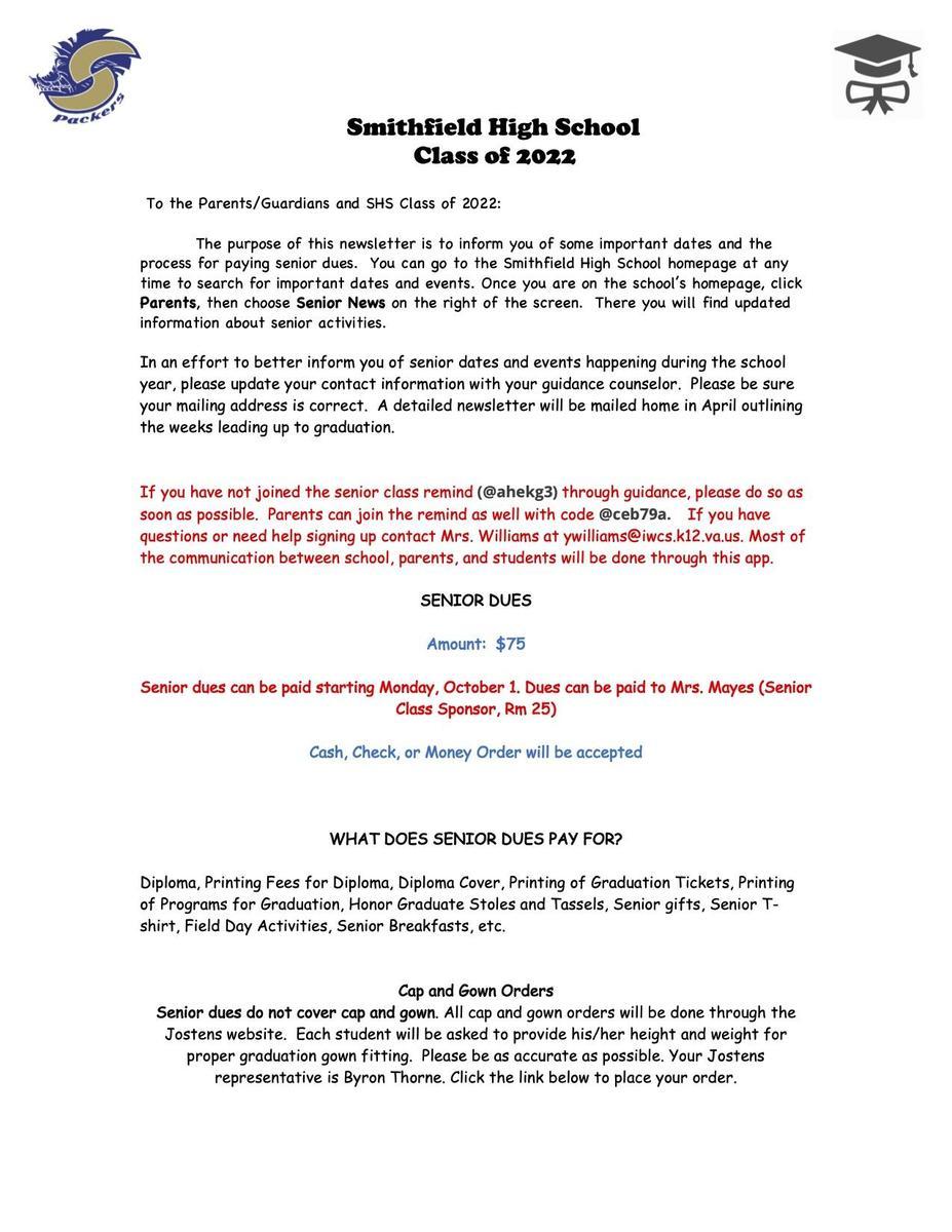 Senior Letter page 1