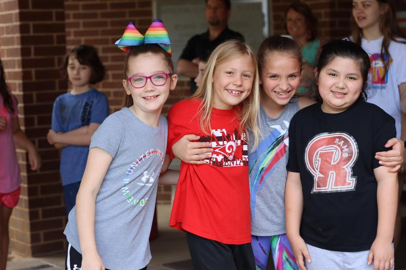 students at Houston Elementary