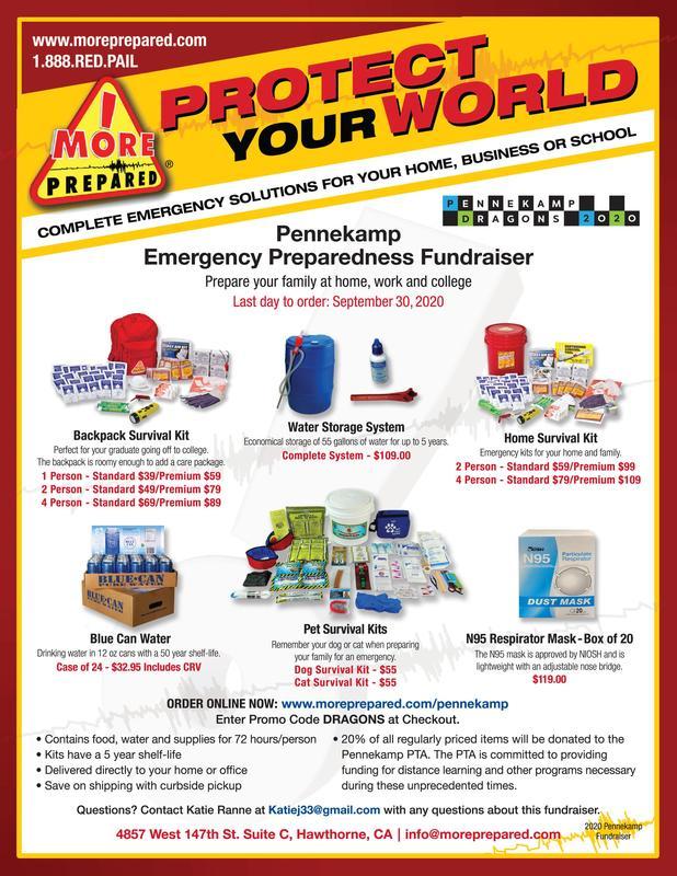 Prepare for Emergencies - Benefit Pennekamp PTA! Thumbnail Image