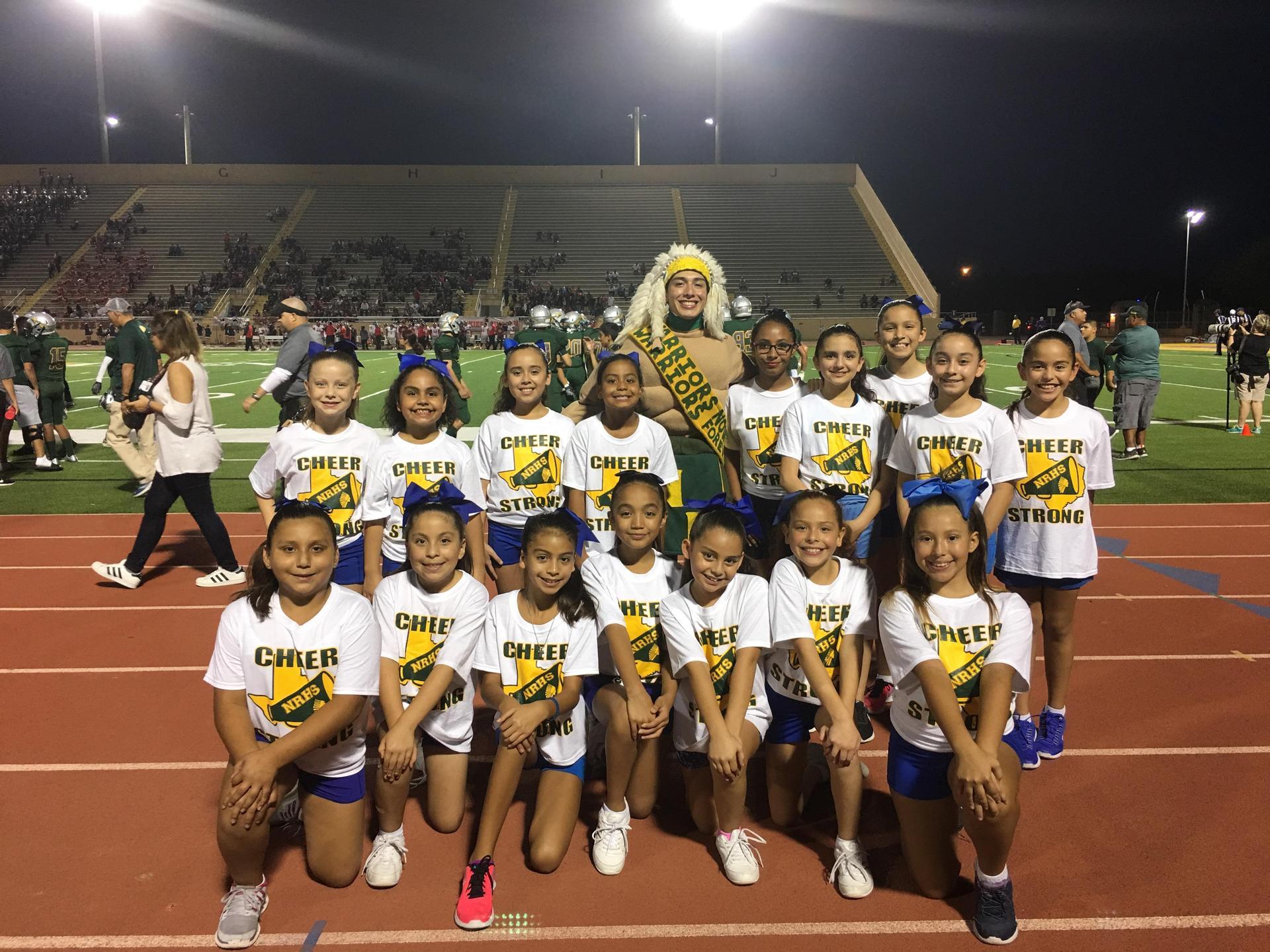 cheerleaders at game.